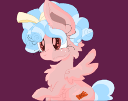 Size: 720x567 | Tagged: artist:ocultz, chest fluff, cozy glow, female, filly, pegasus, pony, raised hoof, safe, simple background, sitting, solo