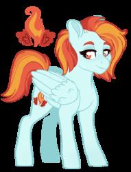 Size: 1441x1883 | Tagged: safe, artist:whalepornoz, oc, pegasus, pony, adoptable, magical lesbian spawn, offspring, parent:rainbow dash, parent:spitfire, parents:spitdash, simple background, solo, transparent background