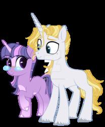Size: 1024x1229 | Tagged: safe, artist:harmonyharp, prince blueblood, twilight sparkle, pony, alternate universe, female, male, shipping, straight, twiblood