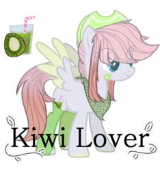 Size: 865x923 | Tagged: artist:bublebee123, bandaid, bandana, clothes, cowboy hat, female, hat, kiwi, mare, oc, oc:breezy kiwi, oc only, pegasus, pony, safe, simple background, socks, solo, transparent background, two toned wings, wings