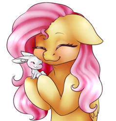 Size: 1508x1586 | Tagged: angelbetes, angel bunny, artist:erroremma, blushing, cute, duo, eyes closed, floppy ears, fluttershy, hug, nuzzling, pegasus, pony, safe, shyabetes, simple background, transparent background