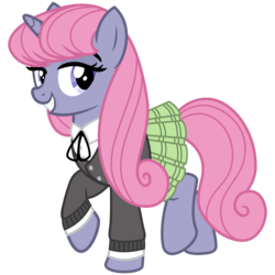 Size: 3200x3200 | Tagged: artist:cheezedoodle96, clothes, female, jacket, looking at you, mare, necktie, oc, oc only, oc:velvet, plaid skirt, pleated skirt, pony, raised hoof, safe, shirt, simple background, skirt, smiling, solo, svg, .svg available, transparent background, unicorn, vector