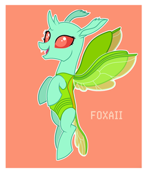 Size: 2339x2744 | Tagged: artist:foxaii, changedling, changeling, flying, oc, oc only, oc:volurum, safe, solo, ych result