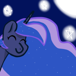 Size: 1080x1080 | Tagged: alicorn, artist:bbluna, bust, moon, pony, princess luna, safe, simple background, solo, stars, white background