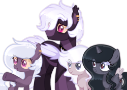 Size: 1285x916 | Tagged: alicorn, artist:sugaryicecreammlp, base used, bat pony, colt, female, filly, male, oc, oc:midnight star, oc:moon dust, oc:nightly shadows, oc only, oc:starlight night, pony, safe, simple background, stallion, transparent background