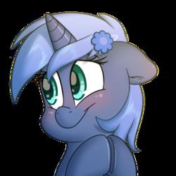 Size: 2000x2000 | Tagged: safe, artist:fluffyxai, oc, oc only, oc:paamayim nekudotayim, pony, unicorn, accessories, blushing, simple background, smiling, solo, transparent background
