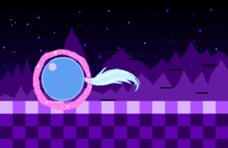 Size: 5175x3375 | Tagged: artist:superhypersonic2000, ball, female, levitation, magic, mare, motion lines, night, pixel art, pony, rolling, safe, self-levitation, solo, sonic the hedgehog (series), spin dash, stars, telekinesis, trixie, trixieball, unicorn