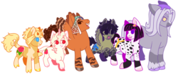 Size: 930x390 | Tagged: safe, artist:guidomista, artist:miiistaaa, artist:nijimillions, earth pony, pegasus, pony, unicorn, abbacchio, accessories, accessory, albino, anime, black hair, black mane, blaze (coat marking), blonde, blonde hair, blonde mane, braid, brown, bruno, bruno buccellati, cloven hooves, crossover, curls, curly, curly hair, curly mane, curly tail, flower, friends, friendship, frown, gang, gangsta, gangster, giorno, giorno giovanna, group, group picture, guido, guido mista, hat, height difference, hooves, hooves to the chest, hooves together, hooves up, horn, jjba, jojo, jojo's bizarre adventure, leone abbachio, leonine tail, looking at each other, looking down, mafia, male, messy hair, mista, mob, mouth closed, muzzle, narancia ghirga, one hoof raised, open mouth, pannacotta fugo, passione, polka dots, ponified, rose, short, simple background, size difference, small male, small pony, smiling, socks (coat marking), splotches, spots, spotted, stallion, straight hair, straight mane, straight tail, stripes, tall, transparent background, vento aureo, white, white hair, white mane