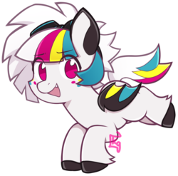 Size: 732x724 | Tagged: artist:oxy-diamond, bat pony, oc, oc:twisty, safe, solo