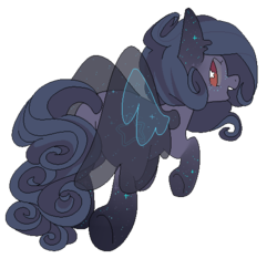Size: 500x486   Tagged: safe, artist:clayterran, oc, oc only, oc:astra, pegasus, pony, flying, simple background, solo, sparkles, stars, transparent background, transparent wings, wings