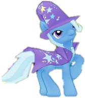 Size: 168x193 | Tagged: safe, artist:pugleg2004, edit, edited screencap, screencap, trixie, pony, unicorn, 3d, background removed, female, gameloft, mare, not a vector, picture for breezies, simple background, solo, transparent background