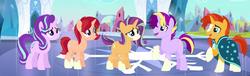 Size: 1733x529 | Tagged: safe, artist:z-shadow-0, starlight glimmer, sunburst, pony, family, female, male, offspring, parent:starlight glimmer, parent:sunburst, parents:starburst, shipping, starburst, straight