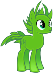 Size: 889x1229 | Tagged: safe, artist:rainbow eevee, earth pony, original species, plant pony, pony, base used, battle for bfdi, battle for dream island, bfb, bfdi, grass, male, plant, ponified, simple background, solo, spikey mane, transparent background