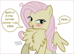 Size: 793x583 | Tagged: safe, artist:flash equestria photography, edit, fluttershy, mean fluttershy, pegasus, pony, the mean 6, behaving like a bird, chest fluff, clone, cute, female, fluffershy, flutterbitch, freak, impossibly large chest fluff, kinkshaming, mean shyabetes, pomf, shyabetes, single panel, solo