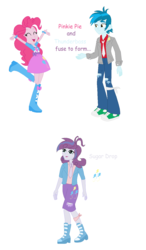 Size: 819x1403 | Tagged: artist:berrypunchrules, artist:selenaede, equestria girls, female, fusion, male, pinkiebass, pinkie pie, safe, shipping, straight, thunderbass