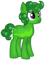 Size: 838x1111 | Tagged: safe, artist:rainbow eevee, food pony, original species, pony, unicorn, battle for dream island, bfdi, food, freckles, gelatin, gelatin (bfdi), implied party favour, jelly, male, ponified, simple background, solo, transparent background