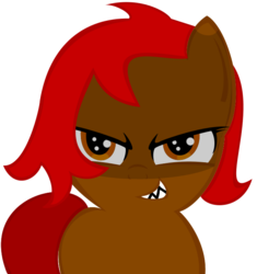 Size: 636x677 | Tagged: artist:remareshadows, female, filly, oc, oc:midnightdesire, safe, smiling, smirk