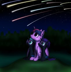 Size: 2892x2942 | Tagged: alicorn, alicorn oc, artist:vasillium, brother, brother and sister, clothes, colt, cutie mark, daughter, family, female, filly, glasses, grass, grass field, happy, headband, high res, holding, horn, looking, looking up, male, mare, meteor, meteor shower, moon, mother, mother and daughter, mother and son, night, night sky, nostrils, oc, oc:nox (rule 63), oc:nyx, outdoors, parent and child, parent and foal, pony, princess, r63 paradox, royalty, rule 63, safe, self paradox, self ponidox, shooting star, siblings, sister, sky, smiling, son, stars, tree, twilight sparkle, twilight sparkle (alicorn), twins, wall of tags, wood