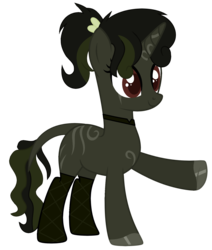 Size: 1628x1922 | Tagged: artist:alina-brony29, artist:tortured-smile0w0, base used, choker, clothes, female, fishnets, ic only, mare, markings, oc, oc only, oc:tribal beats, ponytail, raised hoof, safe, simple background, solo, stockings, thigh highs, transparent background, unshorn fetlocks, zebra, zebracorn, zebra oc
