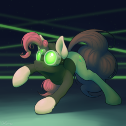 Size: 2000x2000 | Tagged: artist:ohemo, clothes, earth pony, female, mare, nightvision goggles, pinkie pie, pinkie spy, pony, safe, solo