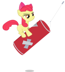 Size: 3000x3325 | Tagged: apple bloom, artist:jrrhack, earth pony, female, filly, pony, punching bag, safe, smiling, solo, the super speedy cider squeezy 6000, vector