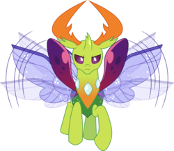 Size: 5000x4346 | Tagged: absurd res, artist:dashiesparkle, changedling, changeling, king thorax, safe, simple background, solo, spoiler:s09e03, .svg available, thorax, thorax is not amused, transparent background, uprooted, vector