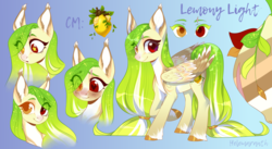 Size: 3826x2100 | Tagged: artist:helemaranth, blushing, ear tufts, female, heart eyes, heterochromia, mare, oc, oc:lemony light, oc only, pale belly, pegasus, pony, rcf community, safe, scar, solo, starry eyes, unshorn fetlocks, wingding eyes
