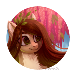Size: 1200x1200 | Tagged: artist:helemaranth, neck fluff, oc, oc:helemaranth, pony, rcf community, safe, solo