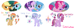 Size: 2056x794 | Tagged: alicorn, appledash, applejack, artist:supercoolraven, female, lesbian, magical lesbian spawn, offspring, parent:applejack, parent:pinkie pie, parent:rainbow dash, parents:appledash, parents:startrix, parent:starlight glimmer, parents:twinkie, parent:trixie, parent:twilight sparkle, pinkie pie, rainbow dash, safe, shipping, simple background, starlight glimmer, startrix, transparent background, trixie, twilight sparkle, twilight sparkle (alicorn), twinkie