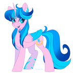 Size: 1713x1779 | Tagged: safe, artist:neonishe, oc, oc:neon star, alicorn, pony, alicorn oc, freckles, smiling, solo