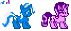 Size: 464x201 | Tagged: 8 bit, artist:maikerutheplayer, megaman, megaman x, megaman xtreme, pixel art, safe, simple background, sprite, starlight glimmer, transparent background, trixie, video game