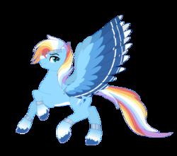 Size: 721x636   Tagged: safe, artist:a-chatty-cathy, rainbow dash, pegasus, pony, leak, spoiler:g5, alternate design, g5, rainbow dash (g5), simple background, solo, transparent background