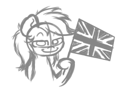Size: 1600x1200 | Tagged: artist:hopefulsparks, pegasus, pony, safe, solo, union jack