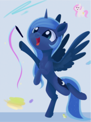 Size: 1382x1853 | Tagged: safe, artist:dusthiel, princess celestia, princess luna, pony, cute, doodle, drawing, female, happy, lunabetes, mare, smiling