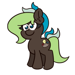 Size: 1200x1200 | Tagged: artist:threetwotwo32232, earth pony, female, mare, oc, oc:bright idea, oc only, safe, simple background, solo, transparent background