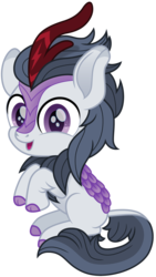 Size: 847x1500 | Tagged: safe, artist:cloudyglow, rumble, kirin, cloven hooves, colt, cute, foal, happy, kirin-ified, male, open mouth, rumblebetes, simple background, sitting, smiling, solo, species swap, transparent background