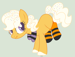Size: 1660x1256 | Tagged: artist:pgthehomicidalmaniac, base used, clothes, earth pony, female, mare, oc, oc only, pony, safe, scarf, scrunchy face, simple background, socks, solo, striped socks, transparent background