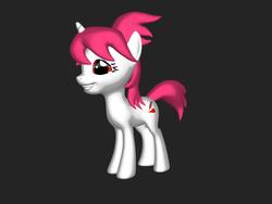 Size: 2000x1500 | Tagged: safe, oc, oc only, oc:crimson prose, pony, unicorn, 3d pony creator, female, grin, mare, smiling, solo