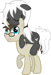 Size: 1804x2607 | Tagged: artist:zacatron94, female, glasses, male, mare, oc, oc:blank novel, oc:captain white, pegasus, ponies riding ponies, pony, safe, simple background, stallion, transparent background, unicorn, whitenovel