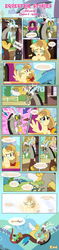 Size: 1919x8129 | Tagged: safe, artist:estories, discord, oc, oc:alice goldenfeather, oc:comet, draconequus, pegasus, phoenix, pony, comic:find yourself, comic, crying, disappear, feels, female, friendship express, goodbye, mare, ponyville train station, tears of joy