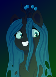 Size: 4700x6500 | Tagged: safe, artist:ev04kaa, queen chrysalis, alicorn, changeling, changeling queen, pony, female, rcf community, solo
