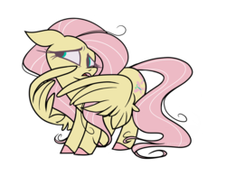 Size: 1024x800 | Tagged: safe, artist:pandan009, fluttershy, pegasus, pony, colored hooves, covering, female, floppy ears, head turn, looking away, looking sideways, mare, nervous, open mouth, simple background, solo, standing, three quarter view, transparent background, wing covering