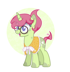 Size: 1020x1048 | Tagged: artist:themisslittledevil, base used, braces, female, glasses, magical lesbian spawn, mare, oc, oc only, oc:tree star, offspring, open mouth, parents:twihugger, parent:tree hugger, parent:twilight sparkle, pony, safe, smiling, solo, unicorn, white outline