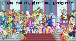 Size: 9500x5175 | Tagged: safe, artist:conthauberger, apple bloom, applejack, big macintosh, bulk biceps, capper dapperpaws, captain celaeno, carrot cake, cranky doodle donkey, cup cake, daring do, dean cadance, derpy hooves, discord, doctor whooves, fizzlepop berrytwist, flash magnus, flash sentry, fluttershy, gallus, gilda, granny smith, grubber, indigo zap, lemon zest, matilda, meadowbrook, mistmane, ocellus, pharynx, pinkie pie, princess cadance, princess celestia, princess ember, princess flurry heart, princess luna, principal celestia, rainbow dash, rarity, rockhoof, sandbar, sci-twi, scootaloo, shining armor, silverstream, smolder, somnambula, sour sweet, spike, spike the regular dog, star swirl the bearded, starlight glimmer, sugarcoat, sunburst, sunny flare, sunset shimmer, sweetie belle, tempest shadow, thorax, time turner, trixie, twilight sparkle, vice principal luna, yona, zecora, abyssinian, alicorn, cat, changedling, changeling, dog, donkey, draconequus, dragon, earth pony, griffon, hedgehog, hippogriff, parrot, parrot pirates, pegasus, pony, unicorn, zebra, anthro, equestria girls, my little pony: the movie, alicorn pentarchy, anthro with ponies, apple family, clothes, crystal prep academy uniform, cutie mark crusaders, end of ponies, everypony, human ponidox, humane five, humane seven, humane six, king thorax, mane seven, mane six, musical instrument, pillars of equestria, pirate, prince pharynx, school uniform, self ponidox, shadow five, stock vector, student six, the end of equestria girls, twilight sparkle (alicorn), twolight, violin, wall of tags, whip
