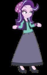 Size: 683x1080 | Tagged: safe, artist:cartoonmasterv3, starlight glimmer, equestria girls, beanie, clothes, hat, long skirt, long sleeve shirt, long sleeves, skirt, solo