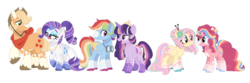 Size: 1280x427 | Tagged: alicorn, alternate design, alternate universe, applejack, artist:jxst-margaret, bandana, cowboy hat, crown, female, flower, flower in hair, fluttershy, freckles, glasses, goggles, hair bun, hat, jewelry, lesbian, male, mane six, pegasus, pinkie pie, pony, rainbow dash, rarity, regalia, rule 63, safe, straight, transgender, twilight sparkle, twilight sparkle (alicorn), unicorn