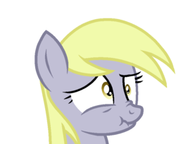 Size: 700x570 | Tagged: artist:rainbow eevee, bust, derp, derpy hooves, female, pony, safe, scrunchy face, simple background, solo, this will end in tears, transparent background, uh oh, worried