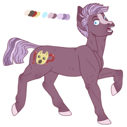 Size: 670x670 | Tagged: artist:guidomista, artist:miiistaaa, artist:nijimillions, blaze (coat marking), blue eyes, earth pony, feral, hooves, lavender, looking at you, male, multicolored hair, multicolored mane, muzzle, oc, oc:storytime, open mouth, palette, pony, purple, realistic anatomy, realistic horse legs, ref, reference sheet, safe, shocked, short hair, short mane, simple background, solo, stallion, standing, striped hair, striped mane, surprised, transparent background, unshorn fetlocks, walking, youtuber