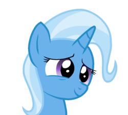 Size: 823x742 | Tagged: artist:rainbow eevee, best pony, bust, crying, cute, diatrixes, female, happy, love, pony, safe, simple background, smiling, solo, tears of joy, transparent background, trixie, unicorn