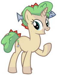 Size: 837x1096 | Tagged: artist:rainbow eevee, battle for bfdi, battle for dream island, bfb, bfdi, butt freckles, cute, ear freckles, female, fish, food, food pony, freckles, lettuce, original species, ponified, pony, raised hoof, safe, simple background, solo, taco, taco (bfb), tomato, transparent background, unicorn